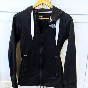 Women's North Face Fleece Hooded Jacket XS black